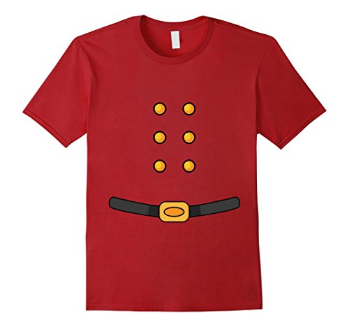 Santa Outfits For Men (Mens Santa Claus Costume Cute Christmas Santa Outfit T-Shirt XL Cranberry)