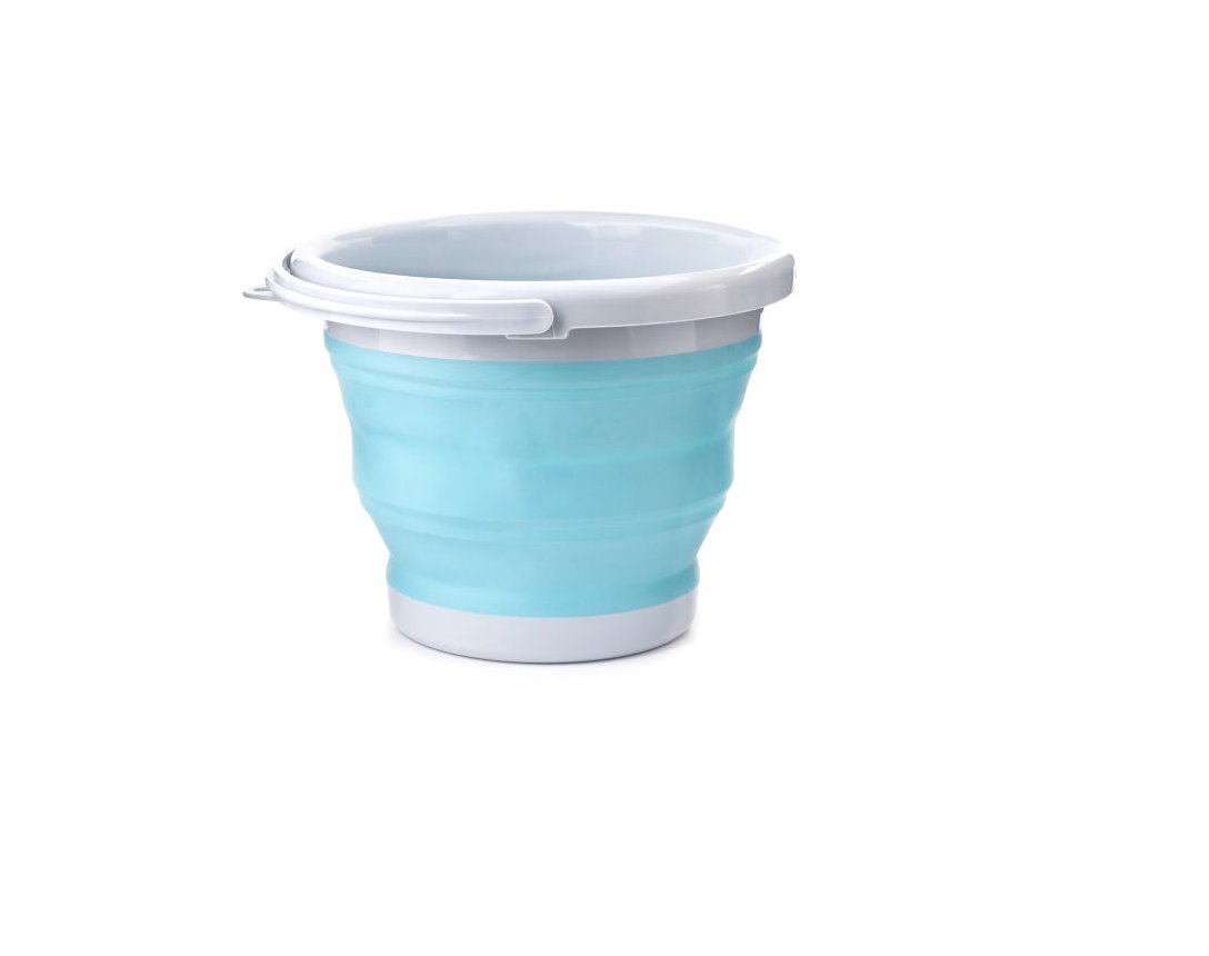 Kikkerland OR81-AQ Aqua Collapsible Bucket
