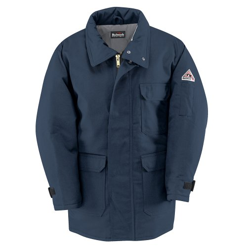 Bulwark Flame Resistant Parka Navy Excel FR ComforTouch 7oz Insulated - Comfortouch Parka