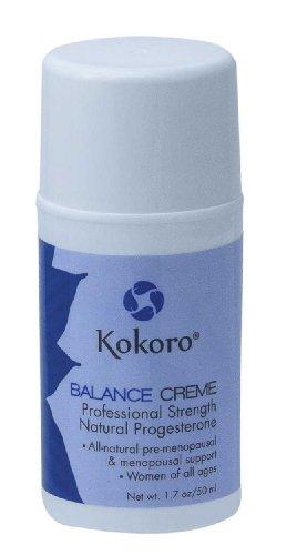 Kokoro progestérone naturelle balance Creme formule professionnelle, la pompe de 1,7 oz