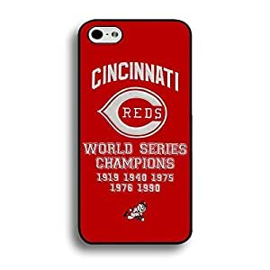For SamSung Galaxy S6 Case Cover Custom Photo MLB Cincinnati Reds Baseball Team Logo Sports Personalized Printed Hard shell Hard Plastic Protection Phone Accessories for Men