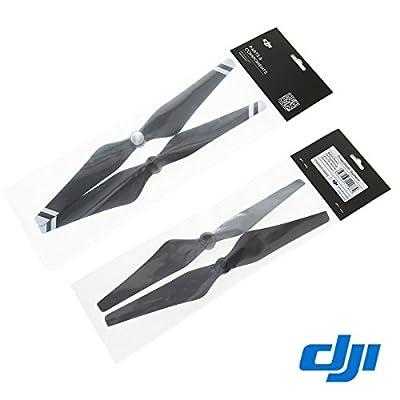 DJI Original 9'' CW+CCW Props Carbon Fiber Reinforced 9450 Self-tightening Propeller 4 Pcs for Phantom 3 Professional / Advanced / Standard Quadcopter / E310 - Black + White Stripe: Camera & Photo