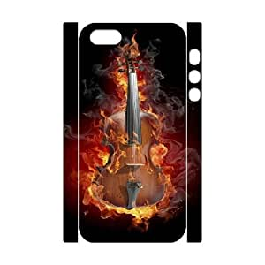 iphone 5 5s Cell Phone Case 3D burning violin 91INA91369321