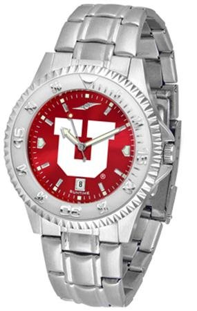 Linkswalker Mens Utah Utes Competitor Steel Anochrome Watch