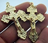 Gold Tone Behold This Heart Pectoral Pardon Cross