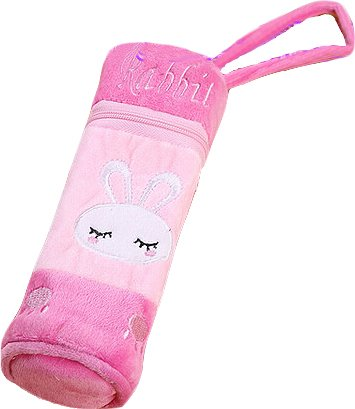 Miraclekoo Cute Rabbit Decorative Plush Pen Pouch for Girls