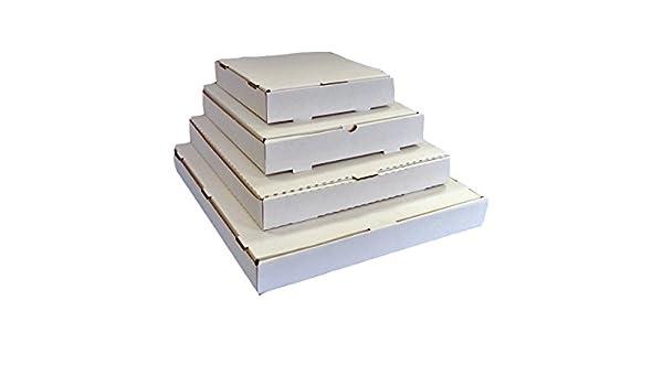 50 x cajas de PIZZA estilo postales (color blanco) 8 pulgadas: Amazon.es: Oficina y papelería