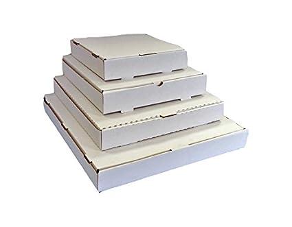 color blanco 50/x cajas de PIZZA estilo postales 12.5-60mm DEEP