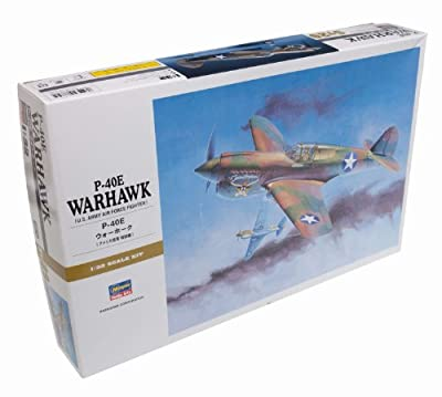 "Hasegawa 1/32 P-40E Warhawk ""Texas Longhorn"" with Pilot Figure, Drop Tank and 500Ib Bomb"