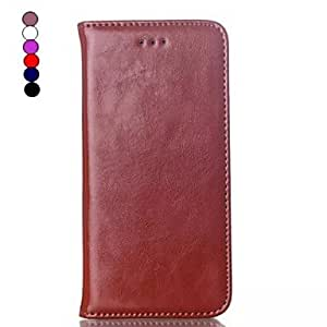 TOPMM Genuine Leather Wallet Leather Case for iPhone 6 (Assorted Colors) , Rose