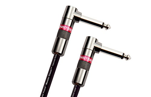 Monster Cable Classic 1/4 Inch Dual Angled Instrument Cable 8 in. ()