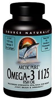 SOURCE NATURALS Arctic Pure Omega-3 1125 Fish Oil Soft Gel, 60 Count