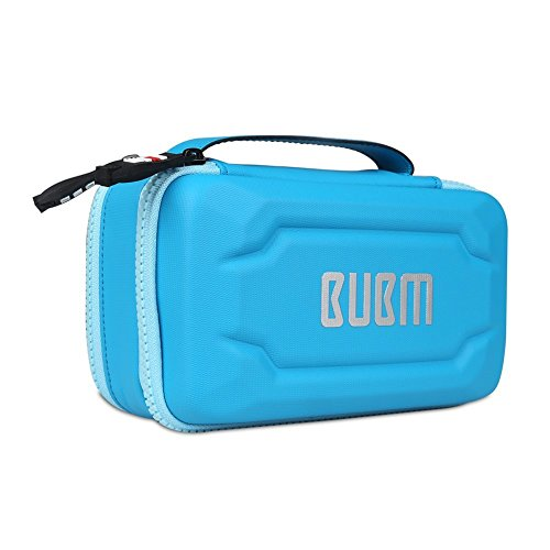 BUBM Eva Electronic Accessories Organizer , Travel Gadget Bag with Handle, Perfect for Cables, USB Drives, Batteries, memory cards (Blue)