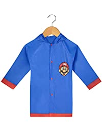 Nintendo Super Mario Todler Boy`s Rain Slicker Size Large 6/7 Blue