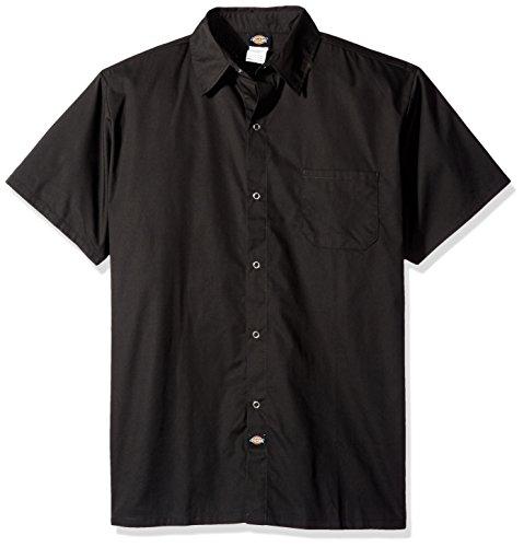 Dickies Chef Poplin Cook Shirt, Black, 4X-Large by Dickies