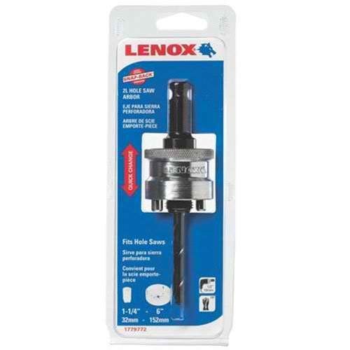 Lenox Tools 1779772 2L Snap Back Arbor with 4-1/4-Inch Pilot Drill Bit for Hole Saws