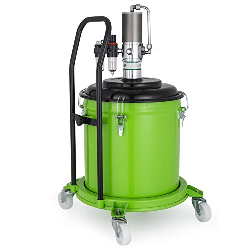 Mophorn 7.5 Gallon Air Operated Pneumatic Compressed Gun Lubrication Grease Pump 50:1 Pressure Ratio (30L) (Air Grease Pump For 5 Gallon Bucket)