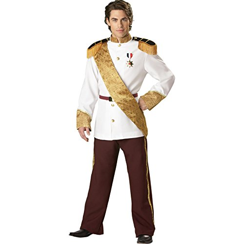 InCharacter Costumes, LLC Men's Prince Charming Costume, White, Medium -