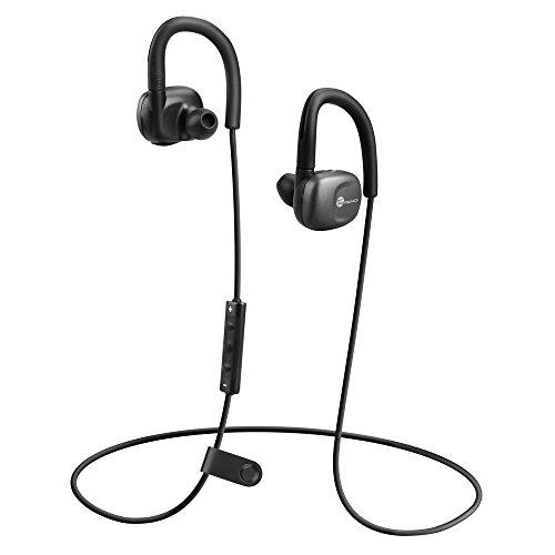 Bluetooth Kopfhörer TaoTronics Bluetooth 4.1 kabelloser Ohrhörer – Siri / S Voice kompatibel schweißabweisend Stereo Sport Kopfhörer mit In-Ear-Ohradapter (aptX, Inline Bedienung und Mikrofon, CVC6.0, IPX5)