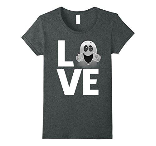 Womens Halloween costume ideas CUTE LOVE GHOST t-shirt (gift idea) Medium Dark (Cute Halloween Costume Ideas Women)