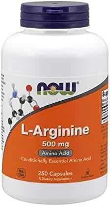 NOW Supplements, L-Arginine 500 mg, Amino Acid, 250 Capsules