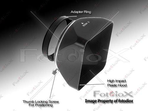 Fotodiox Video / Medium Format Camera Lens Hood, Sun Shade, 52mm Black