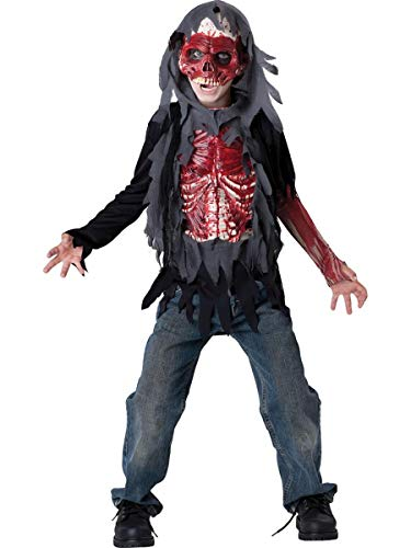 InCharacter Costumes, Boy's Skinned Alive Costume, Grey/Red, -