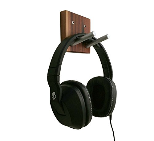 Sculpture Audio Stand (Burl & Blade Wooden Overhead Headphone Headset Hanger Hook Stand Rustic Reclaimed Wall Hook in Wood and Metal, Headset Earphones Hook, Great Gift For Musicians)