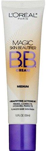 L'Oreal Paris Magic Skin Beautifier BB Cream, Medium [814] 1 oz (Pack of 2)