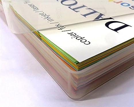500/Blatt in einer durchsichtigen Kunststoff-Aufbewahrungsbox von Weston/® /25/x verschiedene Farben DIN A4-Papier farbig