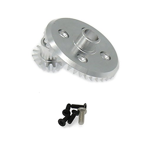 RCAWD Differential Ring Gear + Pinion Gear 7075 Top Level Aluminum Alloy for Rc Hobby Model Car 1/18 Wltoys A959 A969 A979 K929(Shipped locally)(Silver)