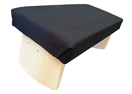 Joy Is Within You Fixed Legs Meditation Bench Soft Top (Made in USA) (Zen Black,...