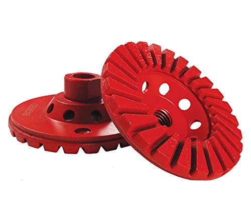 Concrete Grinding Plate for Swing Machines with 5 Cup Wheels- MAX RPM 175 by Diamond Tools (Image #5)