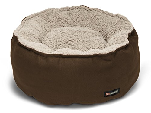 - Big Shrimpy Catalina Plush Pet Bed for Cats and Dogs, Small, Truffle - Machine Washable Dog Bed with 100% Recycled Polyester Fiber Filling, for Small Dogs or Cats