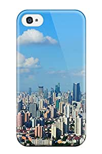 Premium Protection Shanghai City Case Cover For Iphone 4/4s- Retail Packaging