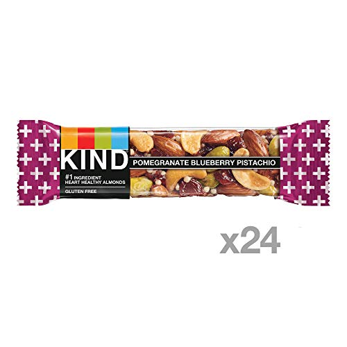 KIND Bars Pomegranate Blueberry Pistachio + Antioxidants, Gluten Free, 1.4 Ounce Bars, 24 Count