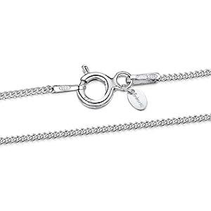 Amberta® Bijoux – Collier – Chaîne Argent 925/1000 – Maille Gourmette – Largeur 1.1 mm – Longueur 36 40 45 50 55 60 cm