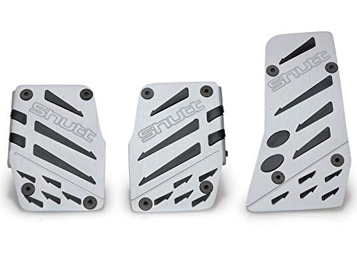 Fly Replacement Pads (Shutt Fly Eagle PFS Brushed Silver Sport Pedal Tuning Universal Aluminum Brake Clutch Accelerator 3 Pcs)