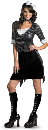 [Disguise Unisex Adult Sassy Jack Skellington, Black/White, Small (4-6) Costume] (Jack White Halloween Costume)