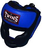 TWINS ツートンカラー ヘッドガード HGL3 黒×青 PTTW3194 キッズサイズあり/トップファイター トレーニング映像付
