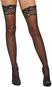 DreamGirl Women's Sheer Thigh-High Stock