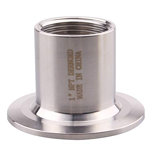 DERNORD Sanitary Female Threaded Pipe Fitting to 2 Inch TRI CLAMP OD 64mm Ferrule (Pipe Size: 1