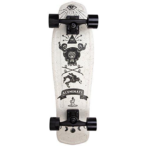 Aluminati Skateboards Recycled Aluminum Cruiser/Commuter Board -The Order Cruiser Skateboard - Mullet Deck 28'' x 8.125'' by Aluminati Skateboards