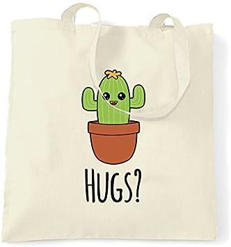 Bolsa De Lona Lindo Cactus Quiere Hugs Dibujos Animados Dibujo