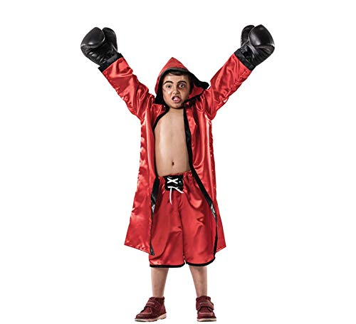 Disfraz de Boxeador Rojo infantil P-(5/8A): Amazon.es: Juguetes y ...