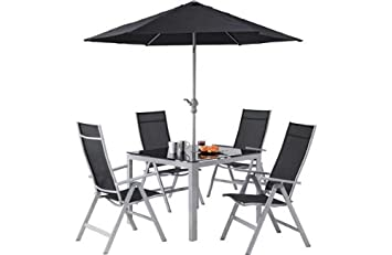 malibu 8 seater patio furniture set. malibu square metal and glass patio garden set includes table 4 reclining chairs (parasol 8 seater furniture