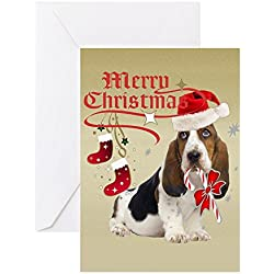 Great gifts for dog lovers basset hound christmas cards basset hound christmas cards greeting card note card birthday card blank inside bookmarktalkfo Gallery