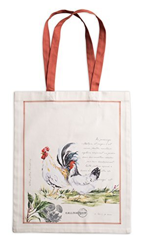 (Maison d' Hermine Campagne 100% Cotton Tote Bag 14 Inch by 17 Inch, Double Rooster)