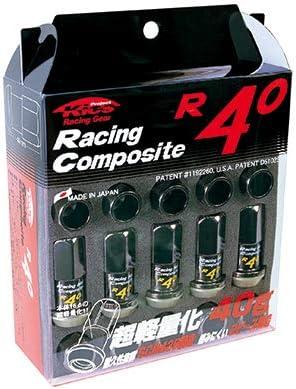 新品*KicS*RC-03K*Racing Composite R40 M12 x P1.25 (Nut Set)*ブラック*ナット*20個(1台分)*(17HEX)*(ロックナット無し)