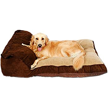 Amazon.com : PLS BIRDSONG Siesta Deep Dish Dog Bed Brown